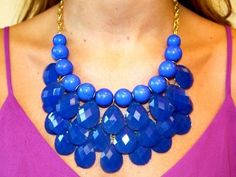 Blue Teared Petal Necklace