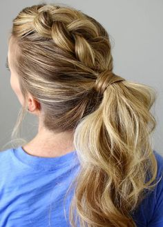 Try a Dutch Mohawk - 26 Ways To Spice Up Your Boring Ponytail - Photos