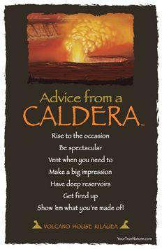Advice from a Caldera Frameable Art Postcard