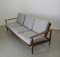 Australian made 60's Parker teak lounge, restored by www.tangerineandteal.com
