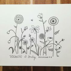 Embroidery pattern flower drawings image only link broken unknown source jwt Embroidery Flowers Pattern, Embroidery Stitches, Hand Embroidery, Embroidery Designs, Flower Patterns, Doodle Sketch, Doodle Drawings, Doodle Art, Flower Drawing Images
