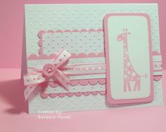 New Baby Cards Giraffe Layout 36 Ideas Baby Girl Cards, New Baby Cards, Embossed Cards, Up Girl, Greeting Cards Handmade, Baby Shower Cards Handmade, Kids Cards, Cute Cards, Creative Cards