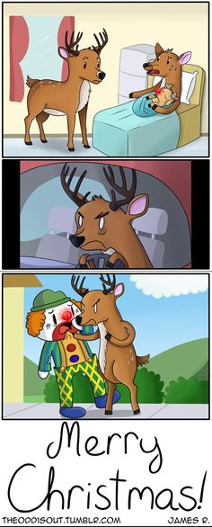 The Origin of Rudolph's Red Nose [Comic]