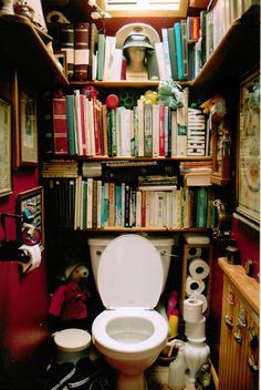 意外とおちつく?「トイレに本棚つけてみた」画像集 - NAVER まとめ