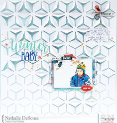 Winter Baby layout by Nathalie DeSousa for #ScrapbookNerd #winterbaby #winterlayout #nathaliedesousa #simplestories