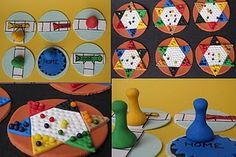 Sorry and Chinese Checkers Gum Paste Cupcake Toppers