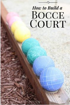 Backyard games 502714377154581712 - Here is an idea that might be fun for some of you to create in a fairly small space- a backyard Bocce court. We have little girls at home and my husband and I talk all the time about ideas to make … Source by iffink Backyard Garden Landscape, Small Backyard Gardens, Backyard Landscaping, Landscaping Ideas, Backyard Stream, Large Backyard, Terrace Garden, Backyard Playground, Backyard Games