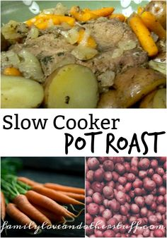 We make Slow Cooker Pot Roast at least once a month. It is a staple in my house because it is so easy to make and tastes great. This is my basic recipe. Pot Roast Recipes, Slow Cooker Recipes, Crockpot Recipes, Great Recipes, Amazing Recipes, Good Food, Yummy Food, Basic Recipe, Freezer Cooking