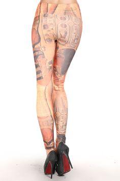 Classic Egyptian Love Print Leggings