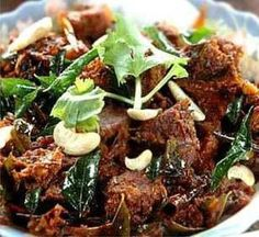 Mutton sukka Mutton - 250 gms (small pieces)  Onion - 4 nos.  Tomatoes - 2 nos.  Turmeric powder - ¼ tsp  Chilli powder - 2 tsp  Coriander p...