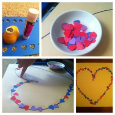 Hearts on the line - valentine fine motor activity. (easter)