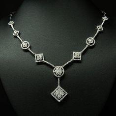 Necklaces – Page 3 – Modern Jewelry Diamond Necklace Simple, Diamond Tennis Necklace, Diamond Pendant Necklace, Diamond Gemstone, Diamond Necklaces, Pearl Necklaces, Diamond Jewellery, Vintage Jewellery, Silver Diamonds