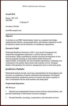 Medical Records Resume 12 Tips For Undergraduate Resume Writing  Httpresumesdesign