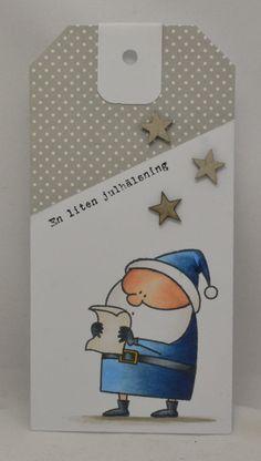 Jag har fastnat helt i det här att göra tags. Antingen att kunna hänga på en present eller julklapp   eller att användas som bokmärke. Det ...