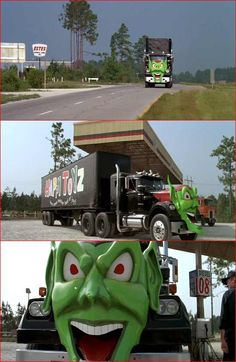 The rig from Maximum Overdrive. I use to watch this all the time but it still scared me, weird kid. Show Trucks, Big Rig Trucks, Old Trucks, Custom Big Rigs, Custom Trucks, Custom Cars, Maximum Overdrive, Trucks And Girls, Classic Trucks