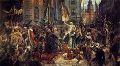Jan Matejko - Proclamacion de el 3 de Mayo de 1791Asimismo, este fortalecimiento del gobierno central polaco atacaba las aspiraciones de Rusia, que prefería mantener una Polonia debilitada y sujeta a la influencia rusa.