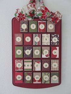 matchbox Advent calendar with a cookie tray...Dollar Store finds!  Doable if I start sooooooon!