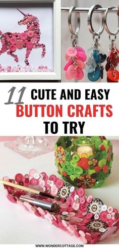 11 Cute Button Crafts To Try