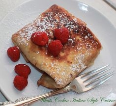 What's Cookin' Italian Style Cuisine: Flour Tortilla Fried Raspberry Turnover Recipe