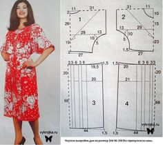 Home Ideas: 35 molds for sewing garments Dress Sewing Patterns, Sewing Patterns Free, Free Sewing, Clothing Patterns, Motif Vintage, Vintage Patterns, Dress Robes, Diy Dress, Top Pattern