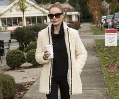 Spotted: Kate Bosworth in our Teddy Coat in Cocoon, available exclusively in stores.