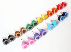 Colored Pencil Studs Earrings