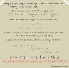 """you are more than your thoughts... Pinned says """"good therapy for kids"""" but I think for myself as well :-)"""