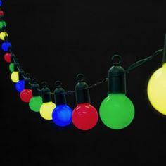 f3aeec5d99839 Guirlande Lumineuse Guinguette avec 20 Boules LED Multicolores pour  Intérieur / Extérieur de Lights4fun: Amazon.fr: Luminaires et Eclairage