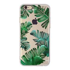 Classic tropical palm leaves Soft TPU Case Durable High Quality Access to All Ports Available for iPhone 5 5s, 6 6s