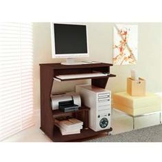 Mesa para Computador ou Escritório Politorno Verona com Rodízios - Tabaco