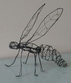 Insect Pre-Gut wire sculpture - perpetualplum Here's my wire sculpture of my insect before I put on the hog gut. These pictures are from Melissa Manley's Class Insecta workshop at ArtFest. Chicken Wire Art, Chicken Wire Sculpture, Wire Art Sculpture, Sculpture Lessons, Sculpture Projects, Art Projects, Wire Sculptures, Abstract Sculpture, Bronze Sculpture