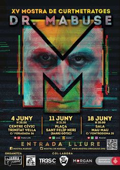 Cartel XV Mostra Dr. Mabuse 2016.  Autor: Riccardo Plaisant Movies, Movie Posters, Painting, Poster, Author, Films, Film Poster, Painting Art, Cinema