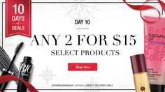 Day 10 of Avon's 10 Days of Deals....  Any 2 for $15 on select products  https://lyndafischer.avonrepresentative.com/
