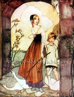 The Golden Bird ~ Anne Anderson Fairy Tales ~DIY Counted Cross Stitch Pattern