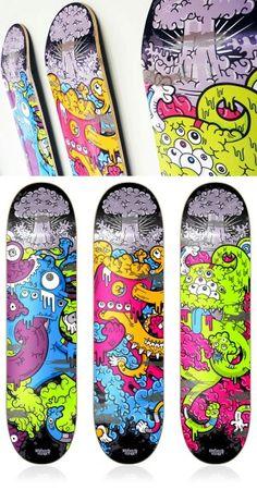 Awsome skateboard illustration.