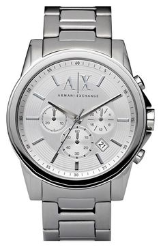 AX Armani Exchange Round Chronograph Watch, 45mm available at #Nordstrom