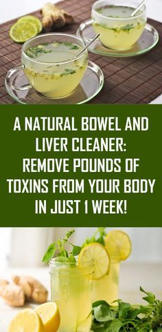 Liver Cleanse Remedies The colon is one of the most important organs for destroying and removing waste and toxins from the body. Toxins will start accumulating in the organism which will result in many health disorders if its function is somehow impaired. Bowel Cleanse, Detox Juice Cleanse, Detox Diet Plan, Liver Cleanse, Detox Drinks, Healthy Drinks, 1 Week Cleanse, Healthy Foods, Health Cleanse