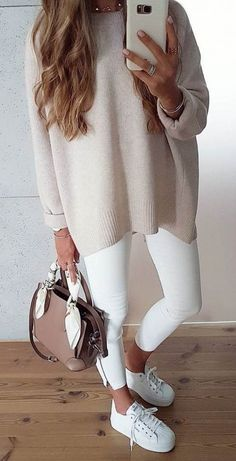 57 Ways To Wear White Pants - Page 2 of 6 - Stylish Bunny Fashion Fall, Winter Fashion Outfits, Fashion 101, Autumn Winter Fashion, Womens Fashion, Fashion Articles, Women's Summer Fashion, Ladies Fashion, Fashion Ideas