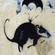 street art . Banksy . Rat. 000