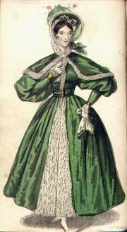 Coat. Lady's pocket magazine, 1834    In about ten seconds, she starts screaming HULK SMASH