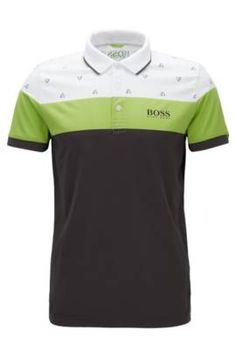 f782c5c6ff6c Mens Casual Polo Shirt Floral Printing Short Sleeve Slim Fit Spring Summer  Tops