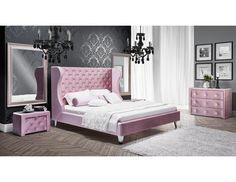 Sonax CorLiving San Diego Leatherette Upholstered King Bed in White Design Loft, Deco Design, Box Design, Upholstered Platform Bed, Upholstered Beds, Bed Upholstery, Bedroom Furniture, Furniture Design, Furniture Decor