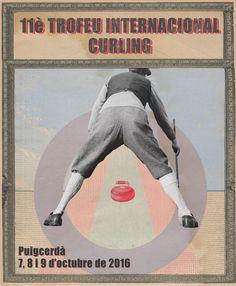 """Cartel para el """"11 Trofeo Internacional de Curling"""" realizado en Puigcerdà"""