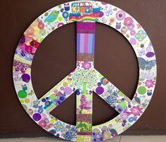 Símbolo de La Paz - hippie style - 88 cm de diámetro
