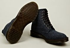 """Harris Tweed x Dr. Martens """"Beckett"""" 8 Eye Boots - my teenage love for Doc's and my grown-up love for classic pairings has met and has the COOLEST offspring!!! NEED!!!!!!!!!!"""