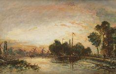 Johan Bartold Jongkind Canal à Hollande Rotterdam 1867 Kunsthandel Studio2000: Collectie