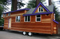 A 355 square feet tiny house on wheels in Felton, California. Designed by Molecule Tiny Homes.