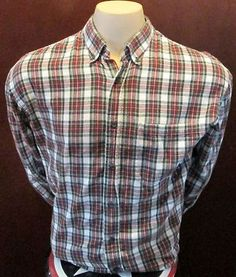 Cabelas OutDoor Gear Plaid Shirt Sz L reg Button Down