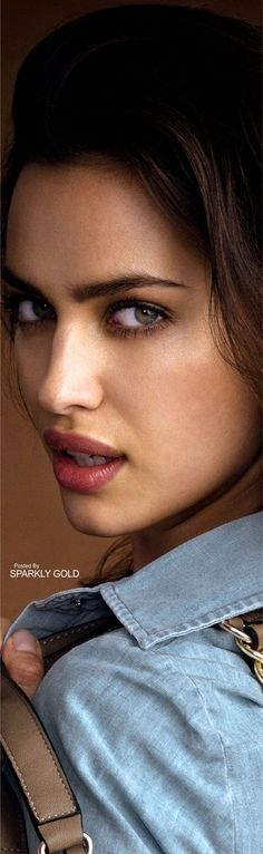 Irina Shayk --- Highlighting natural beauty with a touch of color. She has that sex appeal that is totally who she is.