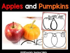 Compare apples to pumpkins for a fun way to integrate science and writing.  Use this to explore 5 senses, observing characteristics, and classifying and organizing! Thank You!Reagan TunstallTunstall's Teaching Tidbits